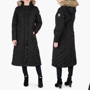 madden girl Juniors' Quilted Puffer Maxi Jacket